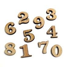 Adornos de artesanía de madera con números mezclados, recortes de madera de MDF, álbum de recortes para fabricación de tarjetas, decoración artística DIY, 100 Uds.