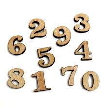 100 Uds., número mixto, adornos artesanales de madera, recortes de madera MDF, recortes planos, álbum de recortes para hacer tarjetas, decoración artística DIY