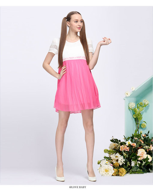 New 2016 chiffon Pregnancy summer Dresses Maternity dress Pregnant Women clothes Gestante Roupas Ropa Maternal pluz size Y013