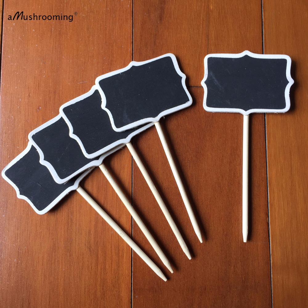 Wedding blackboard chalk board w One Point Stick Pie Sign for Party Decorations Baby Shower Event