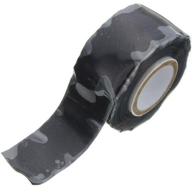 Useful waterproof silicone performance repair tape Bonding Rescue Wire Repair Tools black self-flux adhesive sealant rtv silicone adhesive sealant 300ml black silicone rubber adhesive sealant glass plastic glue for electronic components bonding