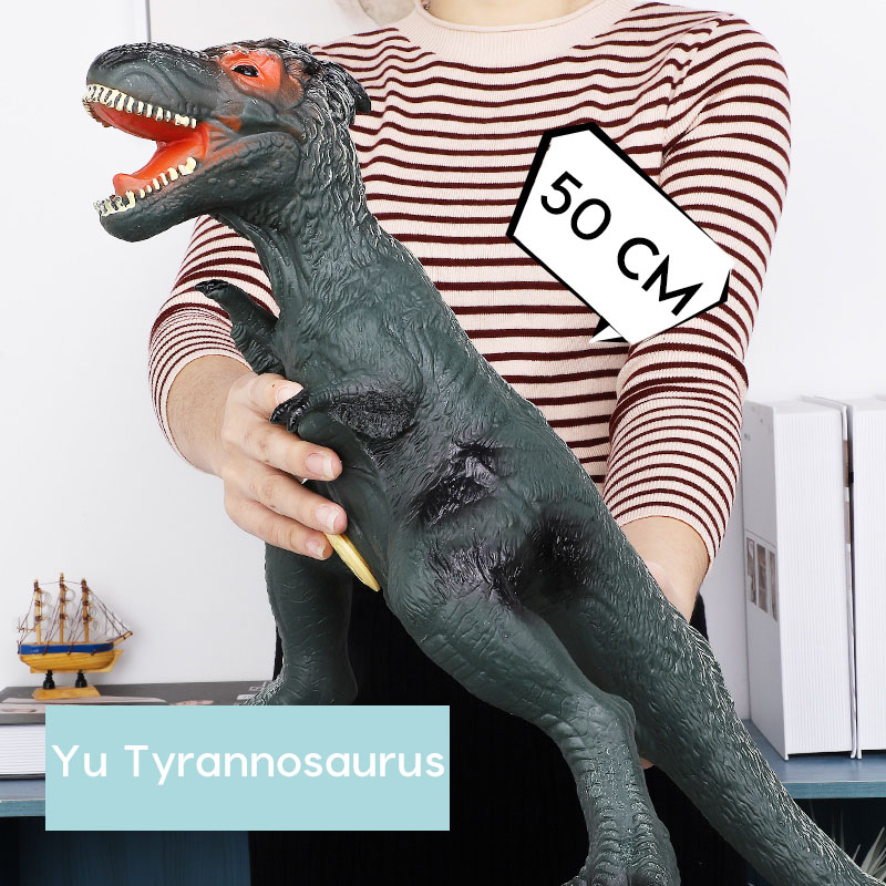 Large Dinosaur Model Shark Plastic Toy Tyrannosaurus Rex Velociraptor Jurassic