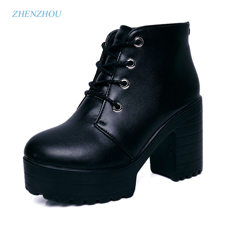 zhen zhou 2017 spring and autumn women's new fashion trend leadership Short boots with high heels exemption from postage zhen zhou 2017 spring and autumn women s new fashion trend leadership the increased martin boots exemption from postage