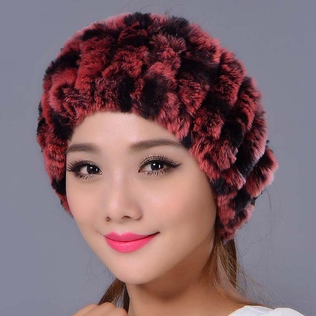 Scraf malha Rex Pele De Coelho para As Mulheres de Pele do Inverno Headbands para Hairband Headwrap 2016 Mais Nova Moda Das Mulheres Reais Da Pele Da Orelha mais quente