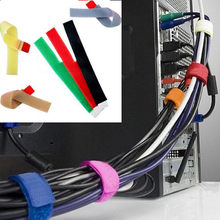 8Pcs Nylon Kabelbinder Klebstoff Verschluss Reusable Magische Klebrige Band Haken Power Draht Schleife Marker Strap Wraps Velcroe Draht krawatte