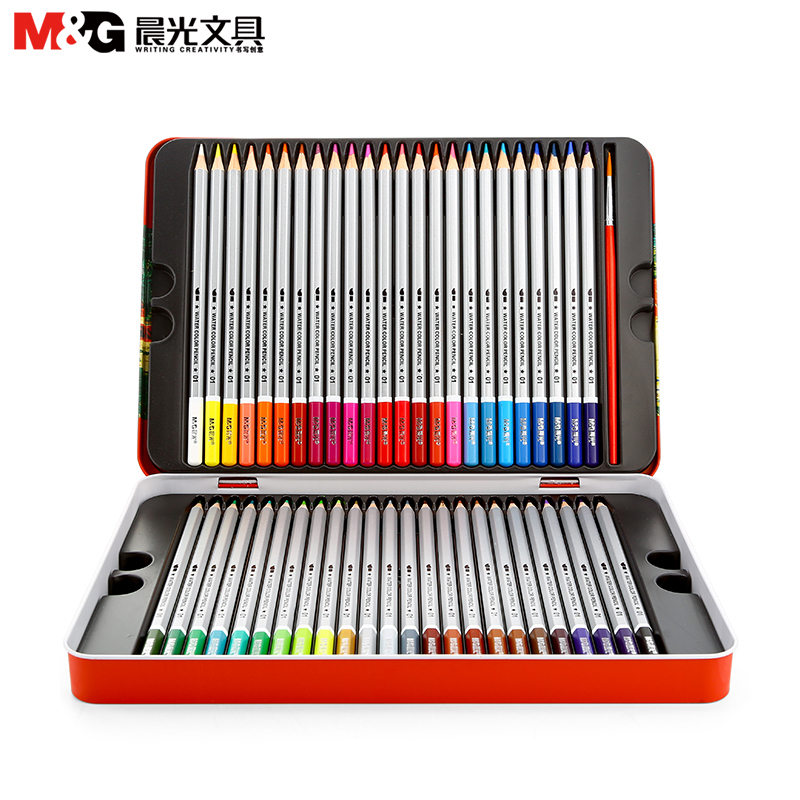M&G Water soluble color pencil 24 color 36 color 48 color lead painting six angle primary school supplies 9ts5 g primary