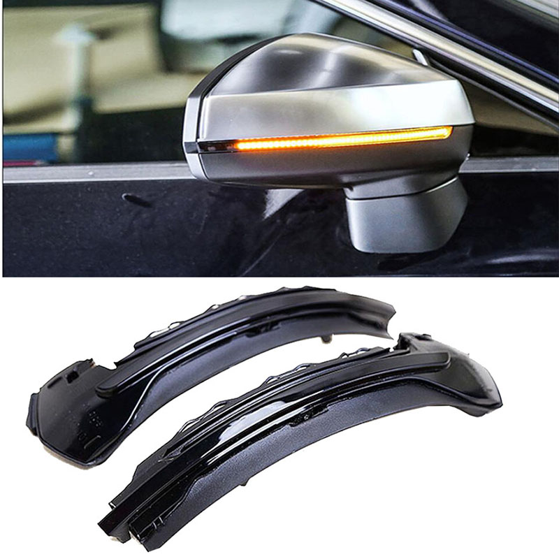 цена на For AUDI A3 S3 8V 2013 - 2016 20170 Water Flowing Turn Signal LED Side Wing Rearview Mirror Indicator Blinker Repeater Light