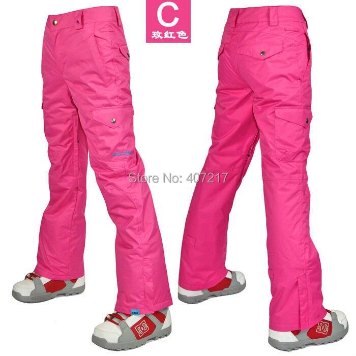 2017 femmes rose rouge pantalon de ski dames snowboard pantalon de sports de plein air pantalon de patinage ski jupon imperméable respirant chaud