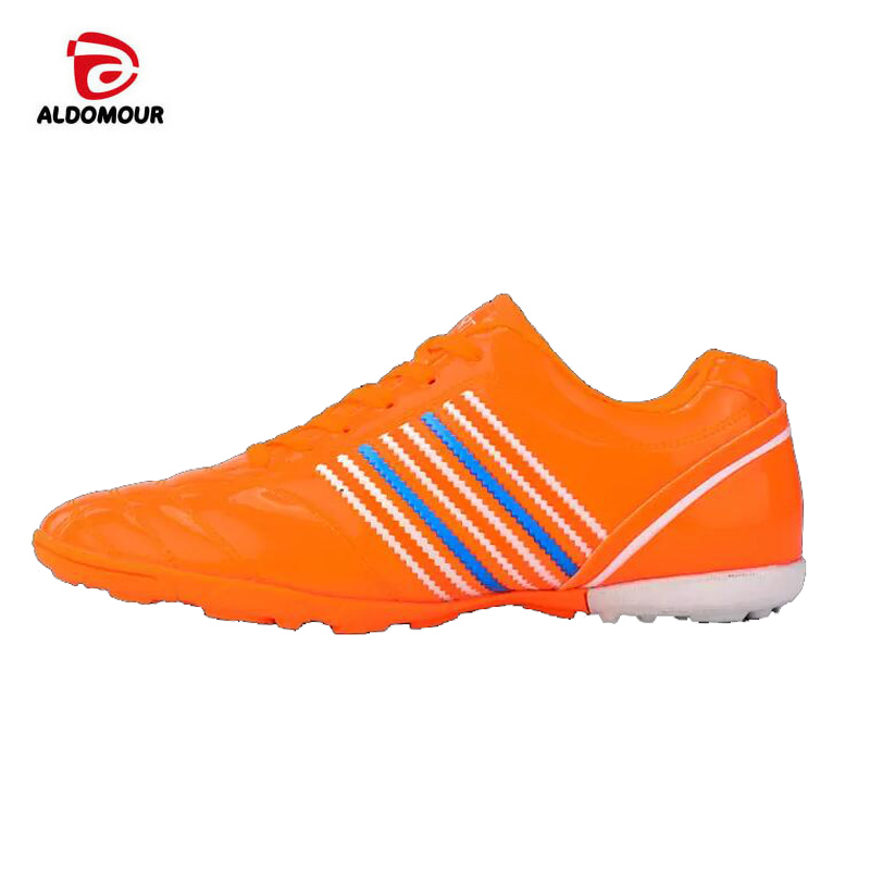 023f088d1 ALDOMOUR Men s Soccer Shoes Futsal Hard Court Turf Football Boots Indoor  Sock Cleats Trainer Cheap Botas Chuteira Futsal Shoes