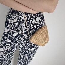 women straw small shoulder bags mini purse summer beach handbag clutch Shell Fashion new 2019 crossbody for