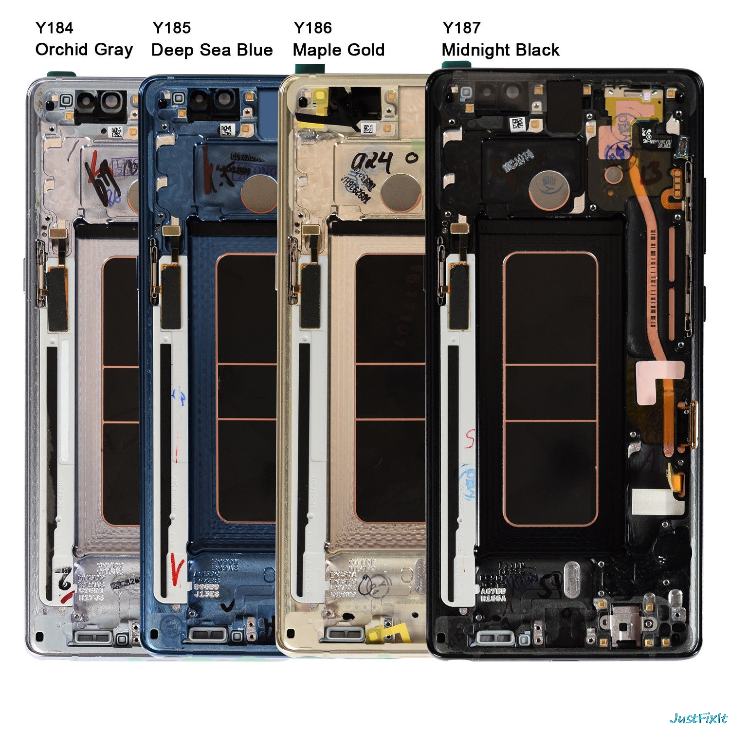 For Samsung Galaxy Note 8 N950 N950F N950U LCD Display Touch Screen Working With Burn in