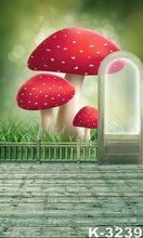 1.5x2m Backgrounds Studio Backdrops Customized Child/Children Photo Backgrounds Red Mushroom And Door Props Flooring Backdrops