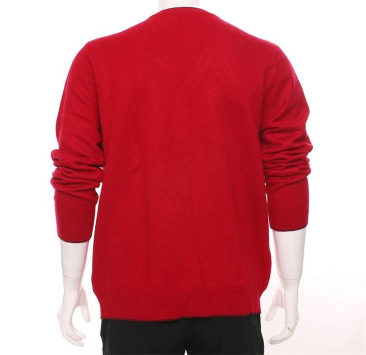 100 Mode Cachemire Hommes Grey Cardigan Col eur En blue Tricot Chandail Unique V Chèvre Couleur 3 H De 2xl Épais S Argyle red Rouge droite Poitrine Azw5qAr