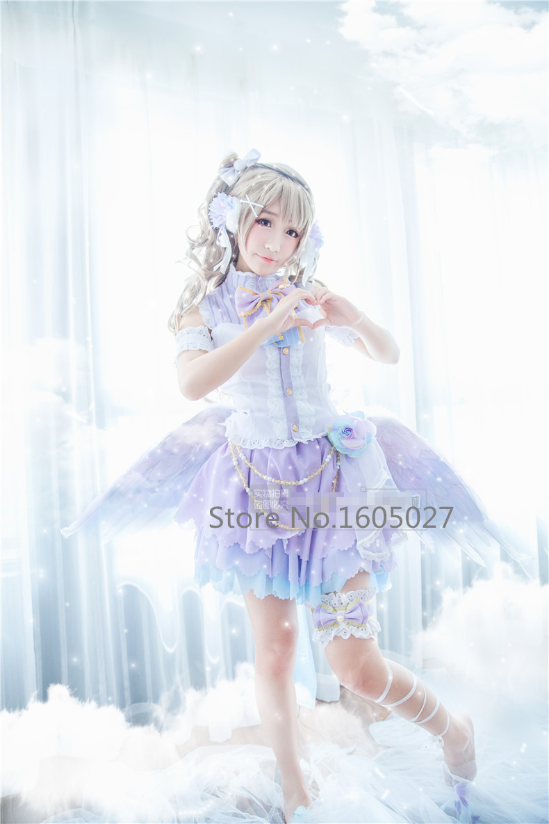 Hot Anime Love Live! Minami Kotori Awaken White Day Angle March Uniform Lolita Dress Cosplay Costume Any Size Hallowmas Clothing