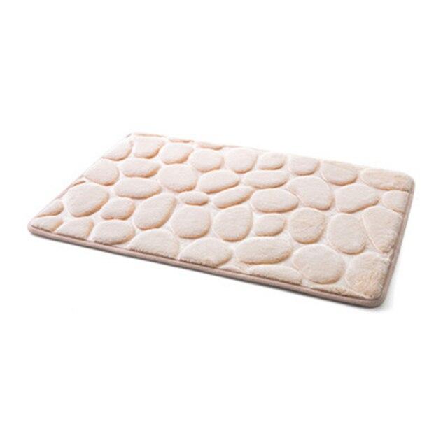 Mrosaa 3D Pebble Bath Rug Assorbimento di Acqua Naturale Gomma Assorbente Tappetino Da Bagno Home Decor Tappeto Tappetino antiscivolo per cucina Bagno