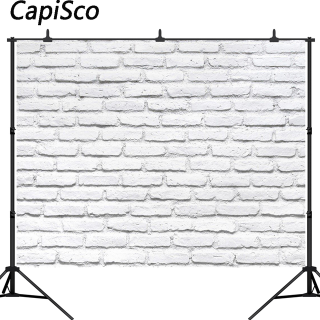 Capisco White Brick Wall Photography Backdrops for Pet Toy Photo Studio Baby Shower Newborn Children Backgrounds Photophone