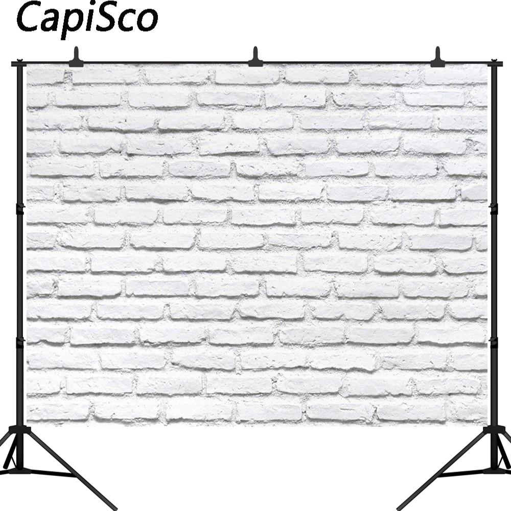 Белые кирпичные стены Capisco, фоны для фотосъемки с игрушкой для домашних животных, фотостудия, детский душ, фоны для новорожденных детей, Фотофон Фон для фотосъёмки      АлиЭкспресс