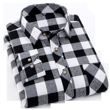 New Arrival Men Flannel Plaid Shirt 100% Cotton Polyester Casual Long Sleeve Soft Comfort Slim Styles Brand Man Clothes