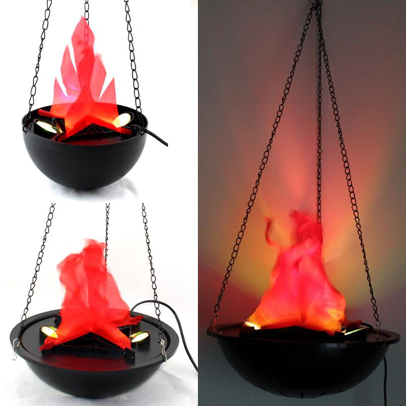Halloween Electric Brazier Funny Fake Fire Basket Flammen Lampe Holiday Supplies 20*20cm