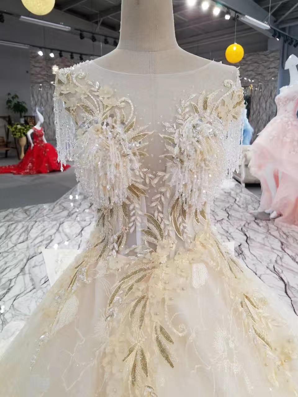 Lace Crystals de lux Margele de aplicatii rochie de mireasa rochie de - Rochii de mireasa - Fotografie 3