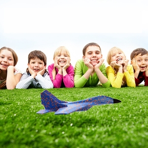Image 5 - DIY Kids Toys Hand Throwing Model Airplane Foam Aircraft Stunt Luminous Education EPP Glider Fighter Planes Toys For Children
