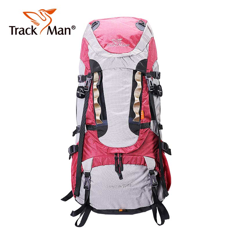 Trackman 65L Outdoor Backpack Travel Multi-purpose climbing backpacks Hiking big capacity Rucksacks camping Large sports bags wissblue professional climbing backpack camping outdoor backpack cr carrying system hiking gear trekking travel sport backpack