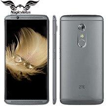 Оригинал ZTE Axon 7 A2017 4 Г LTE Мобильный Телефон 4/6 GB RAM 64/128 ГБ ROM Snapdragon 820 Quad Core 2.15 ГГц 5.5 inch 20.0MP отпечатков пальцев