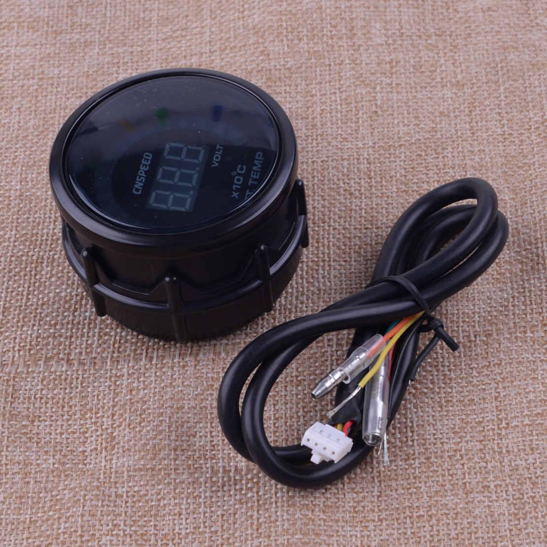 "DWCX العالمي 2 ""52 مللي متر تيار مستمر 12 فولت LED الرقمية العادم الغاز درجة الحرارة EGT درجة الحرارة مقياس متر الاستشعار رصد اكسسوارات السيارات الداخلية"