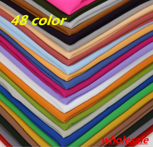 Image 1 - HOT SALE High Quality 10 Nice Color plain bubble chiffon shawl popular muslim hijab head wear fashion women square scarf 90X90cm