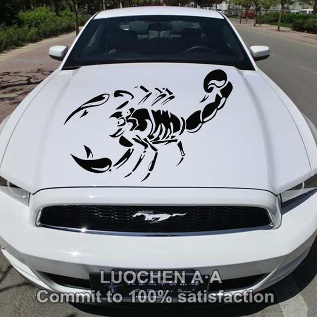 Car stickers large scorpion animal creative decals auto tuning styling waterproof decorative for head doors 100