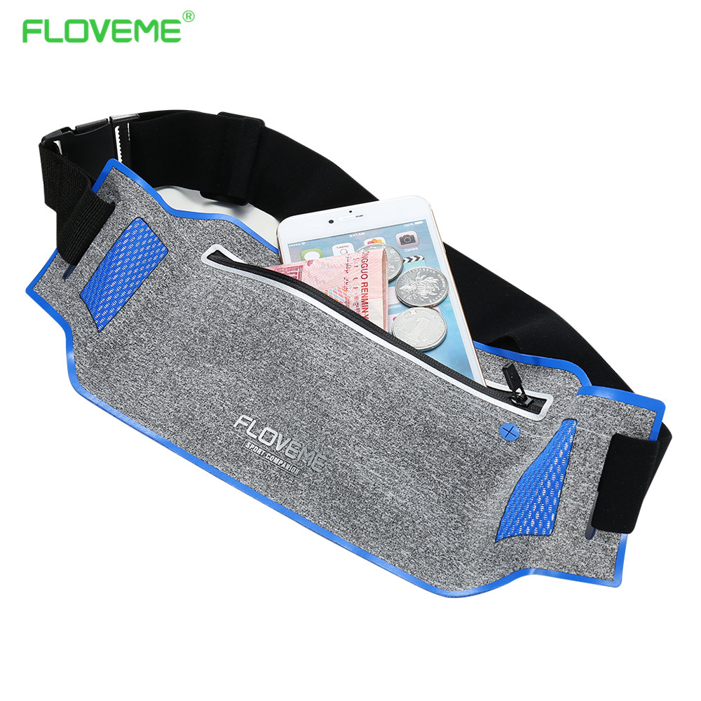 FLOVEME Waist Sport Phone Case For iPhone 6 7 Running Pouch Wallet Bag Cases For iPhone 5 5s SE 6 6s Plus 7 7 Plus Gym Exercises