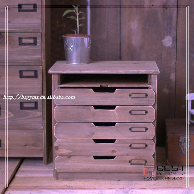 ZAKKA old wooden furniture file cabinet drawers classic card A4 paper stationery cabinet storage cabinet & ZAKKA old wooden furniture file cabinet drawers classic card A4 ...