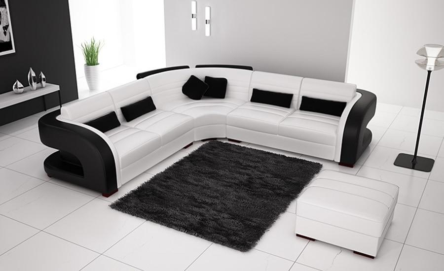 divano ad angolo in pelle bianca-acquista a poco prezzo divano ad ... - In Pelle Bianca Divano Ad Angolo Design