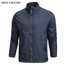 HEE GRAND Heißer Verkauf männer Dünne Jacke Frühling Herbst Lässig Windschutz Stehkragen Mantel Windschutz Outwear MWJ1749