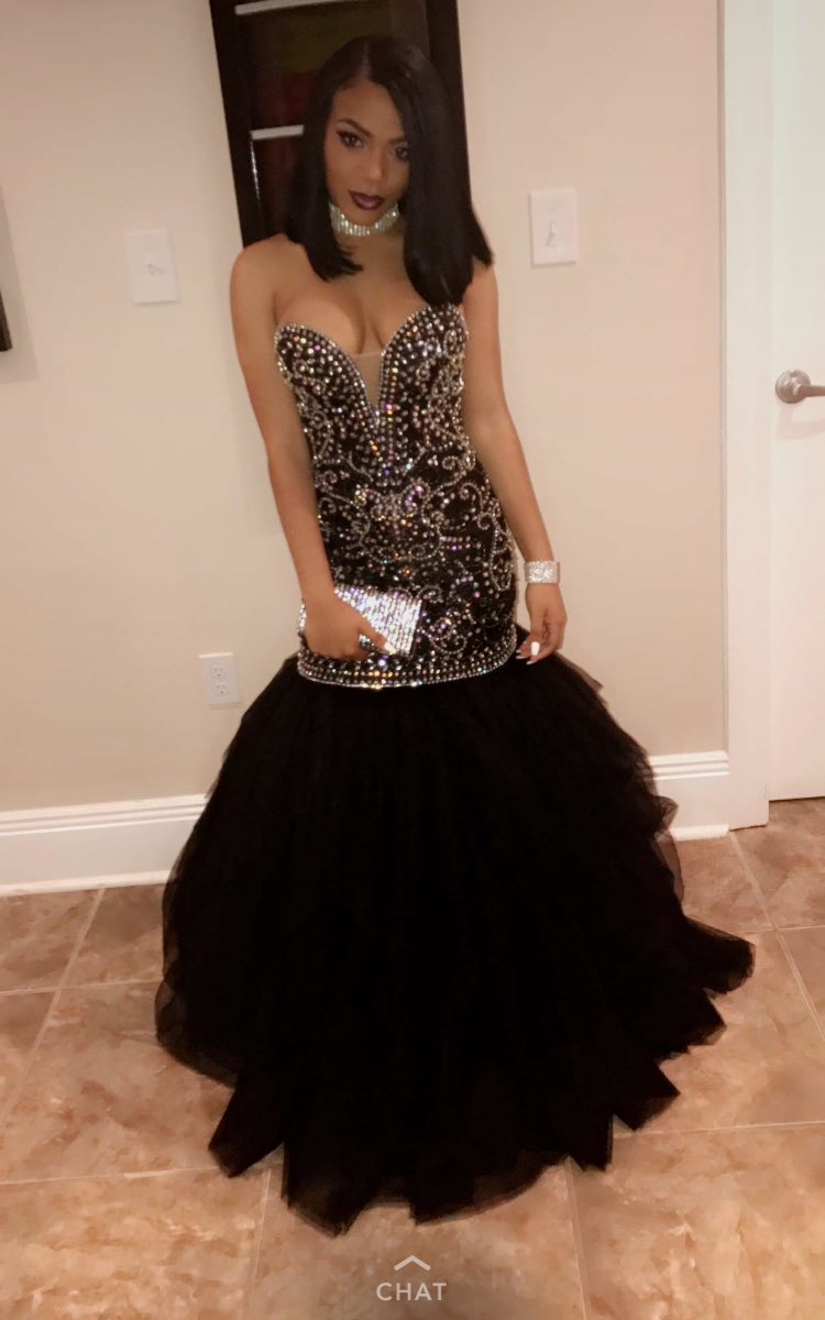Black Girl Black And Gold Prom Dress Mermaid Prom Dresses 2017-in ...