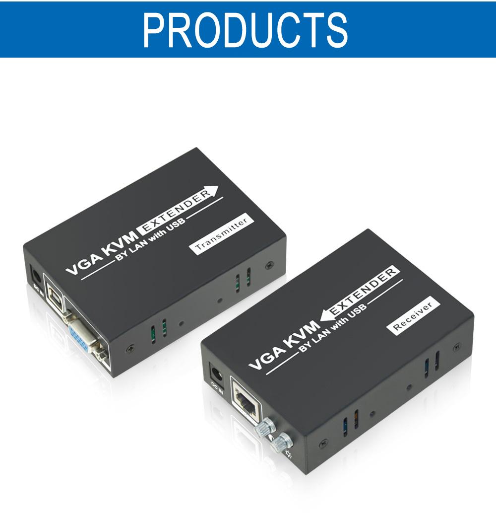 VGA Extender 200m,VGA USB KVM Extender over LAN cat5/cat 6