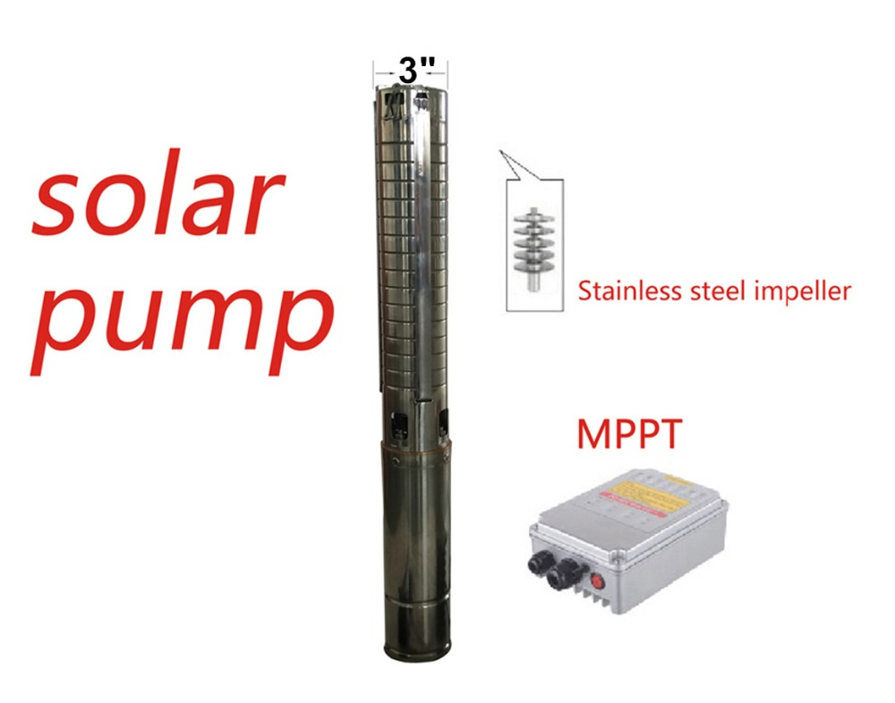 New Series DC72V 1000W Free Shipping high performance 3 inch Solar Submersible Pump max.head 95m Model 3SPSC4.5/95-D72/1000 provide high performance model car bearing sets kyosho triumph of free shipping