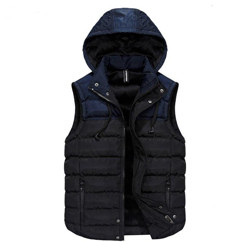 2018 Herbst Winter Ärmellose Jacke Für Männer Mode Warme Mit Kapuze Männlichen Winter Weste Licht Plus Größe Männer Weste Colete Masculino