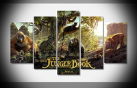 6952 Jungle Book Tryptich poster Framed Gallery wrap art print home wall decor wall picture Already to hang digital print