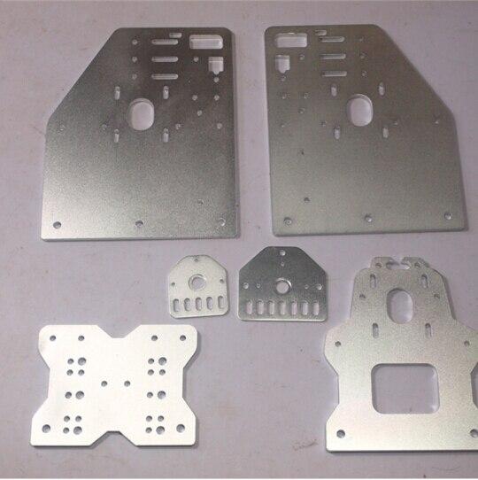 OX CNC machine parts Openbuilds OX CNC Aluminum Gantry Plates With Universal Threaded Rod Plates 1pcs openbuilds slider gantry plate standard 65 65 3mm aluminum alloy cnc special slider plate for 3d printer