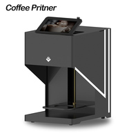 Automatic Inkjet Coffee Printer Food Print Machine with Tablet for latte, cake, cookie, bread, yogurt, ice cream, macaron, jelly