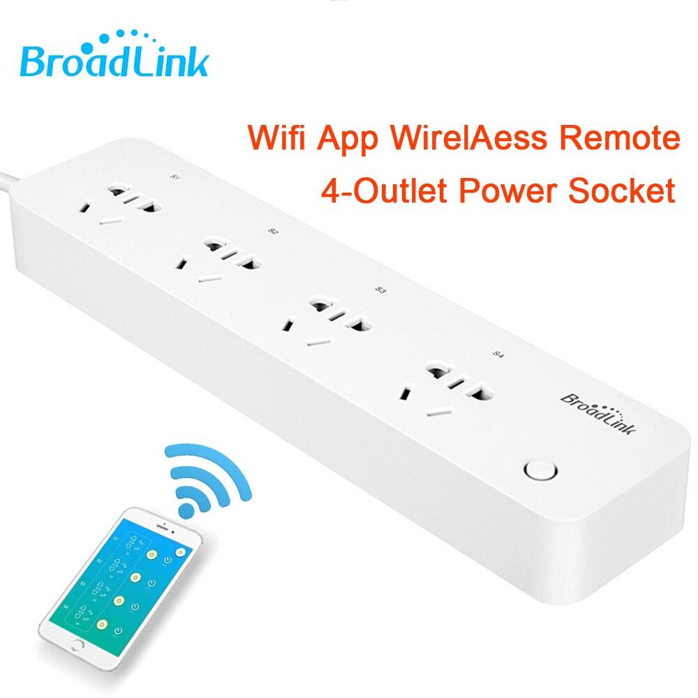 Broadlink MP1 prise de courant intelligente prise de courant à distance sans fil App Wifi contrôlable séparément pour la domotique