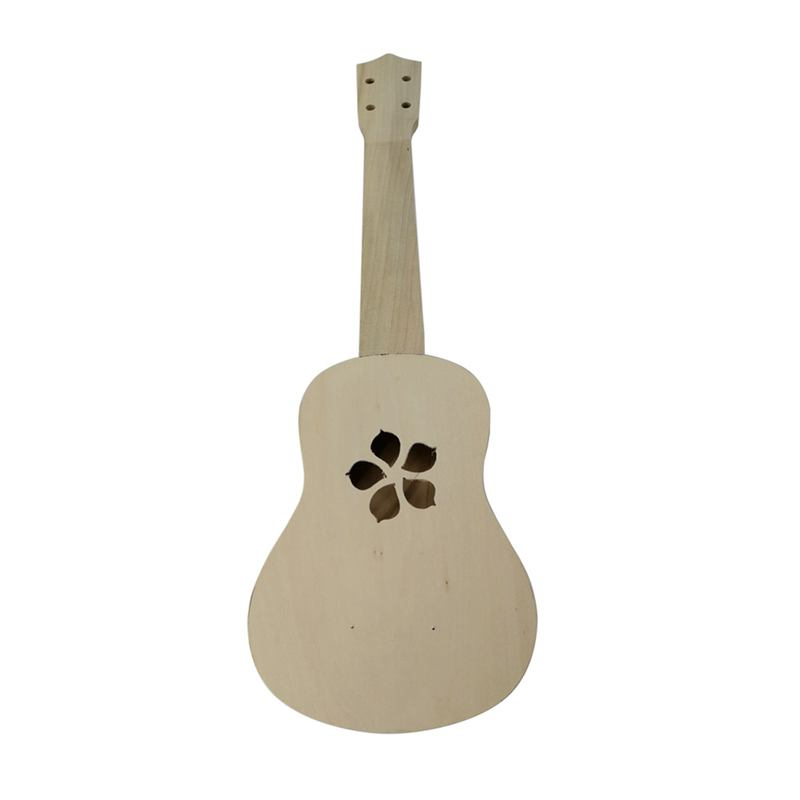 21 Inch Ukulele DIY Ukulele Kit Set Wood Hawaii Guitar Beginner Gift Musical Strings Instruments, Cherry