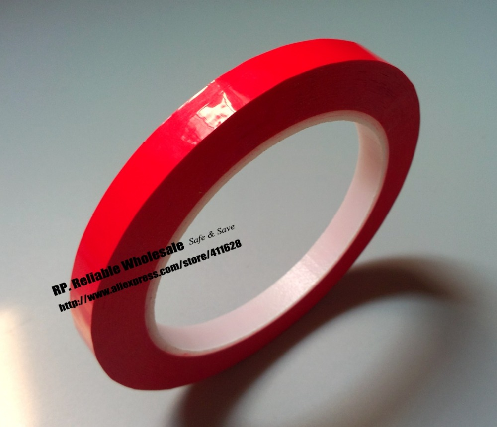 2mm~5mm Choose*66M Insulation Mylar Tape, Single Adhesive For Power Motor Coil Wrap, Red