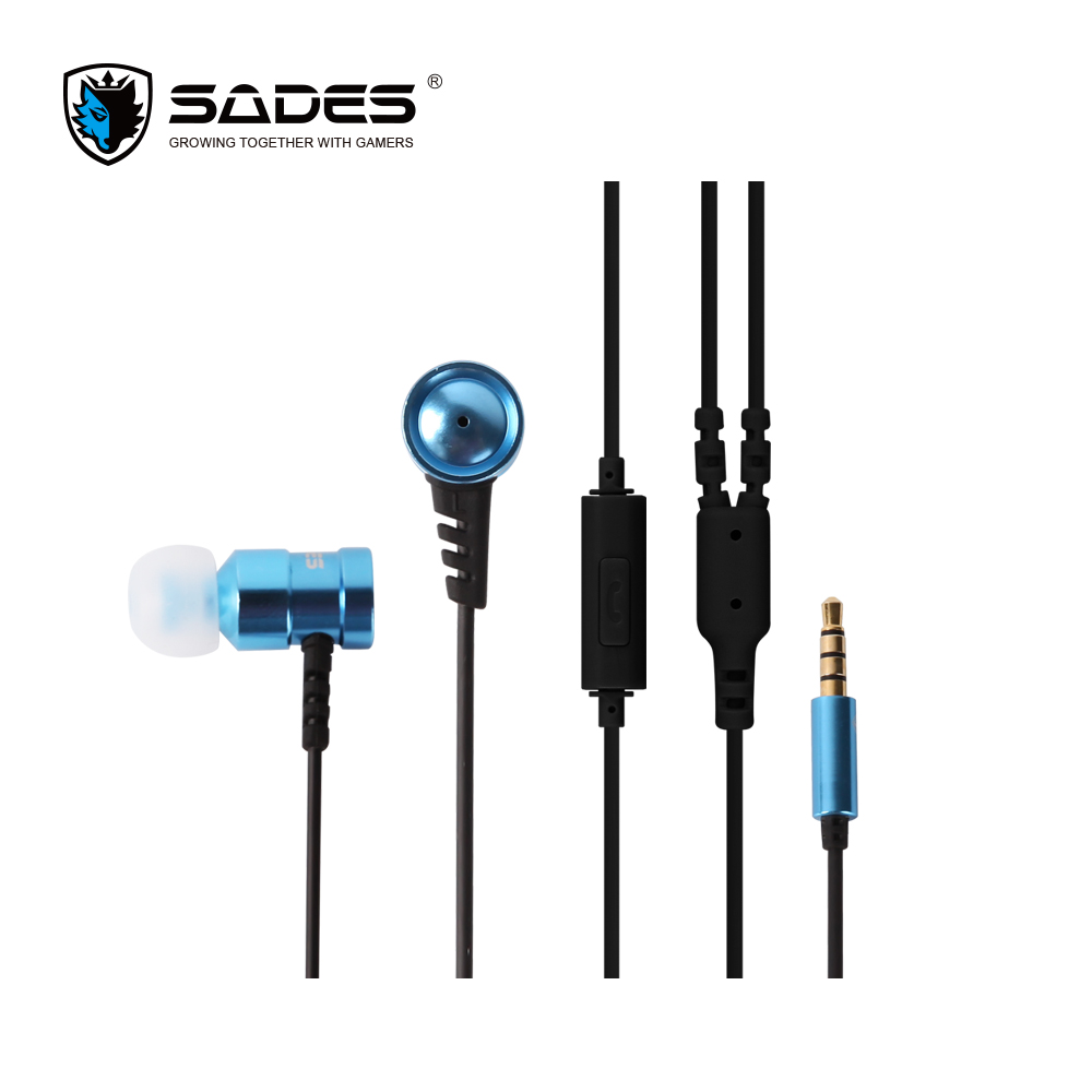 SADES Wings Headphones 3.5mm Phone call and Music Earphone Portable In-Ear Gaming Headse ...