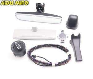 Image 1 - Auto headlight switch+Rain Light Wiper Sensor Anti glare Dimming Rear View Mirror For VW Golf 7 MK7