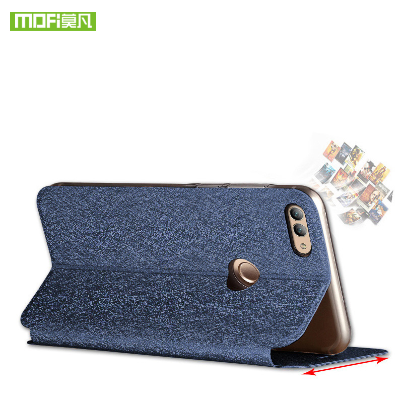 Mofi For Huawei Y9 2018 case Luxury Soft Silicone TPU Case For Huawei Y9 2018 Phone cover Leather Y 9 for huawei Y9 2018 Case in Flip Cases from Cellphones Telecommunications