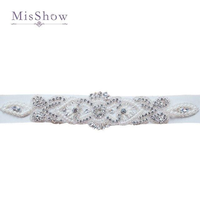 diamantes de imitación y perlas cinturones para vestidos de novia de