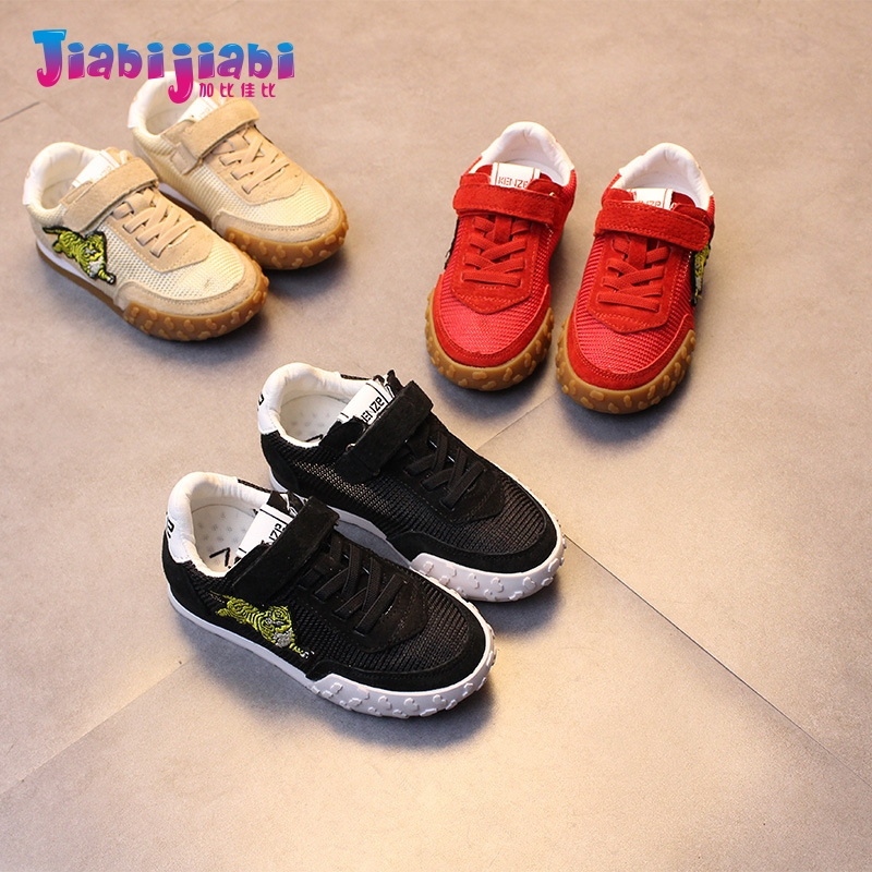 3-12T New Spring Children tiger Embroidery Boys Sport Shoes Flats Girls Run Casual Shoes Toddler Kids Real Leather Sneaker 8