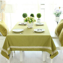 High Quality Cotton Linen Lace Thicken Table Cloth Oversize Picnic Party  Tablecloth Dustproof Coffee Table Cover